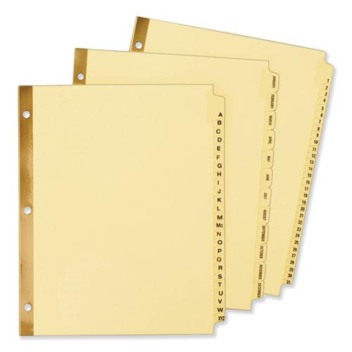 Preprinted Laminated Tab Dividers w/Gold Reinforced Binding Edge, 31-Tab, Letter. Picture 3