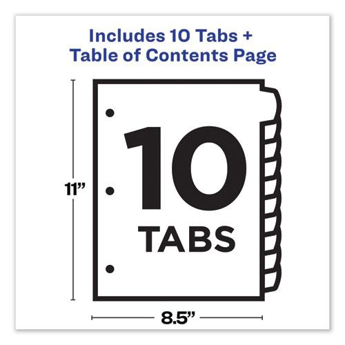 Customizable TOC Ready Index Black and White Dividers, 10-Tab, Letter. Picture 6