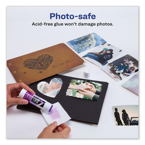Permanent Glue Stic Value Pack, 1.27 oz, Applies Purple, Dries Clear, 6/Pack. Picture 5