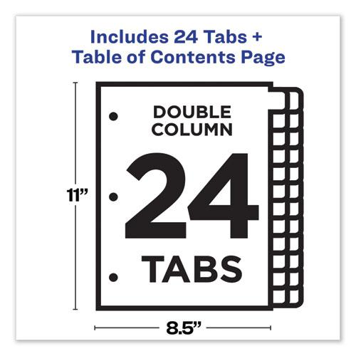 Customizable TOC Ready Index Double Column Multicolor Dividers, 24-Tab, Letter. Picture 6