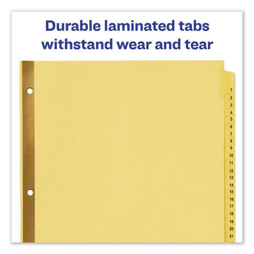 Preprinted Laminated Tab Dividers w/Gold Reinforced Binding Edge, 31-Tab, Letter. Picture 5