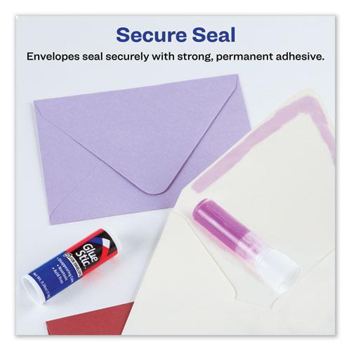 Permanent Glue Stic for Envelopes, 0.26 oz, Applies Purple, Dries Clear, 3/Pack. Picture 7