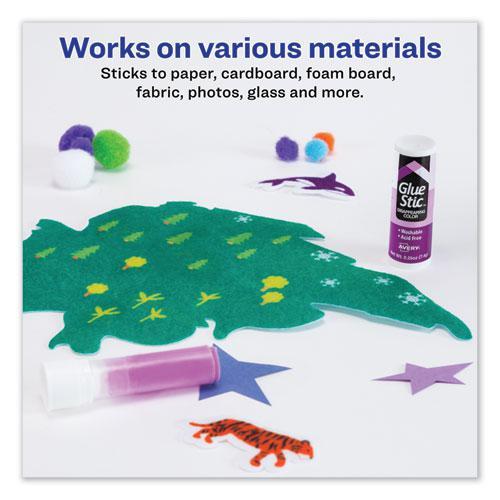 Permanent Glue Stic Value Pack, 0.26 oz, Applies Purple, Dries Clear, 6/Pack. Picture 3