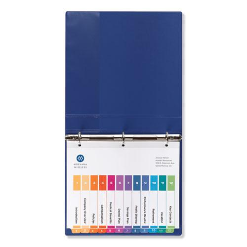Customizable TOC Ready Index Multicolor Dividers, 12-Tab, Letter, 6 Sets. Picture 2