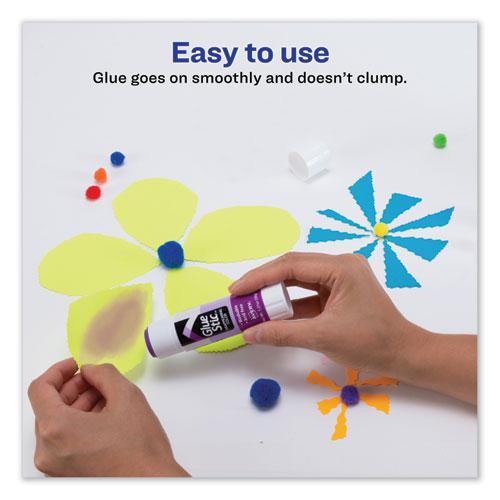 Permanent Glue Stic Value Pack, 1.27 oz, Applies Purple, Dries Clear, 6/Pack. Picture 4
