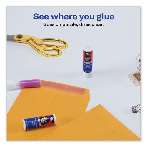 Permanent Glue Stic for Envelopes, 0.26 oz, Applies Purple, Dries Clear, 3/Pack. Picture 5