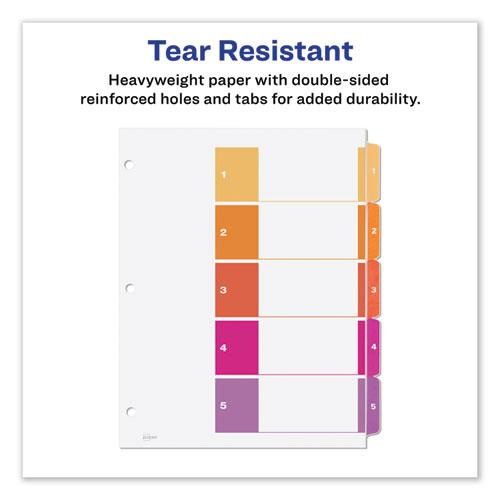 Customizable TOC Ready Index Multicolor Dividers, 5-Tab, Letter. Picture 5