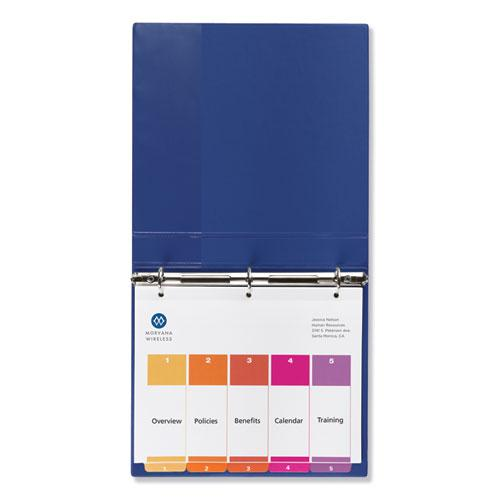 Customizable TOC Ready Index Multicolor Dividers, 5-Tab, Letter. Picture 2
