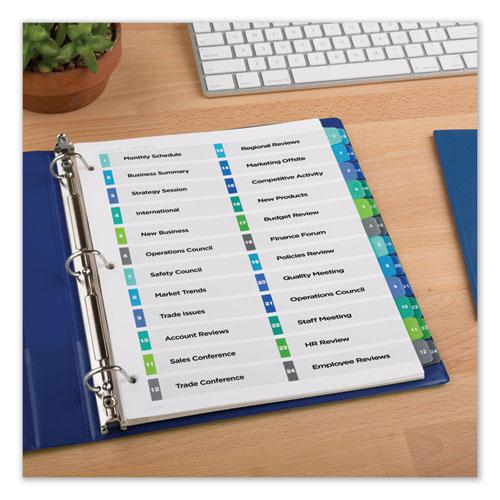 Customizable TOC Ready Index Double Column Multicolor Dividers, 24-Tab, Letter. Picture 3