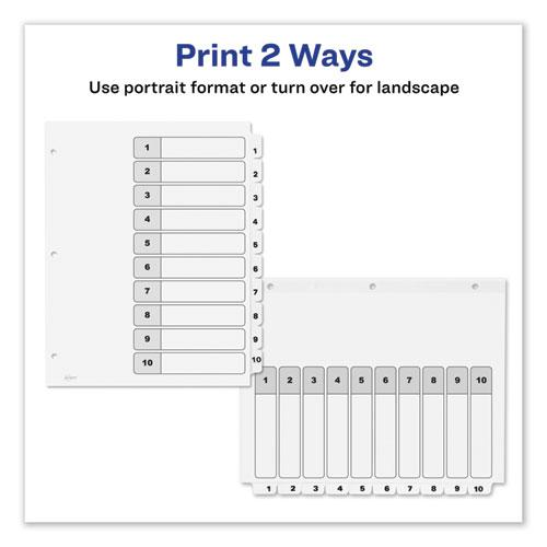 Customizable TOC Ready Index Black and White Dividers, 10-Tab, Letter. Picture 7