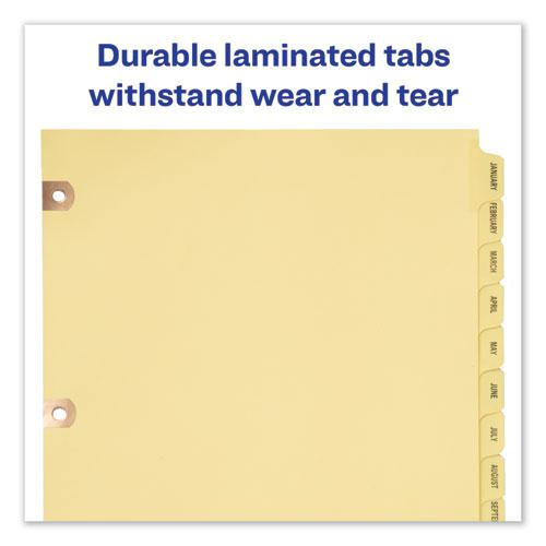 Preprinted Laminated Tab Dividers w/Copper Reinforced Holes, 12-Tab, Letter. Picture 4