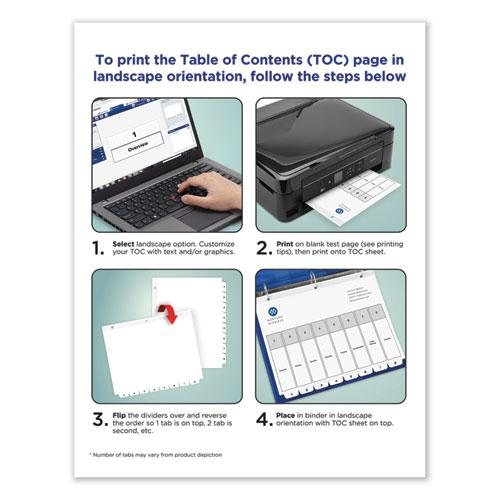 Customizable TOC Ready Index Black and White Dividers, 5-Tab, Letter. Picture 2