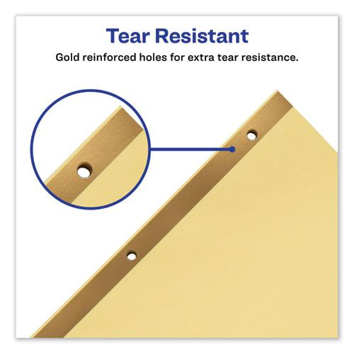 Preprinted Laminated Tab Dividers w/Gold Reinforced Binding Edge, 25-Tab, Letter. Picture 2