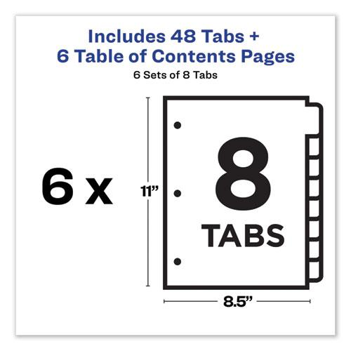 Customizable TOC Ready Index Multicolor Dividers, 8-Tab, Letter, 6 Sets. Picture 7