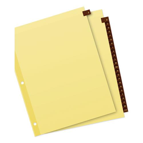 Preprinted Red Leather Tab Dividers w/Clear Reinforced Edge, 25-Tab, Ltr. Picture 3