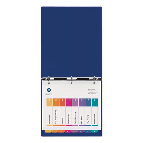Customizable TOC Ready Index Multicolor Dividers, 8-Tab, Letter. Picture 6