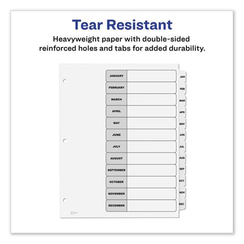 Customizable TOC Ready Index Black and White Dividers, 12-Tab, Letter. Picture 7