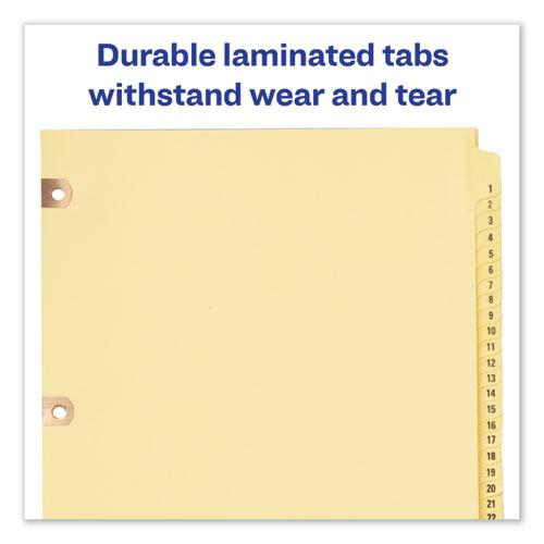 Preprinted Laminated Tab Dividers w/Copper Reinforced Holes, 31-Tab, Letter. Picture 3