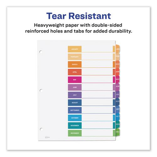 Customizable TOC Ready Index Multicolor Dividers, 12-Tab, Letter. Picture 6