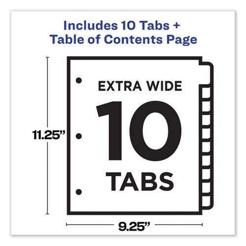 Customizable TOC Ready Index Multicolor Dividers, 10-Tab, Letter. Picture 4