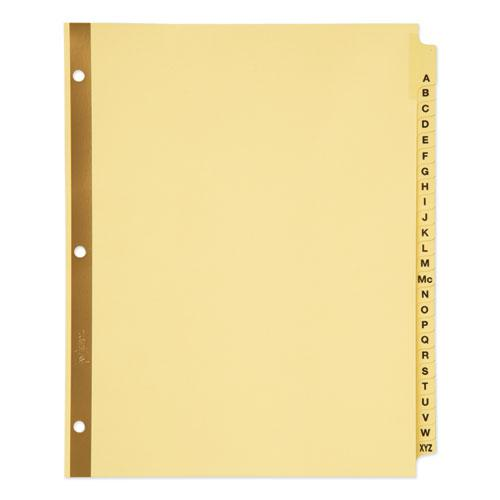 Preprinted Laminated Tab Dividers w/Gold Reinforced Binding Edge, 25-Tab, Letter. Picture 1