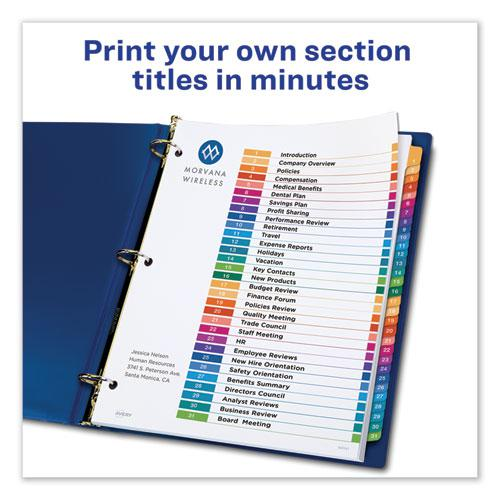 Customizable TOC Ready Index Multicolor Dividers, 31-Tab, Letter. Picture 8