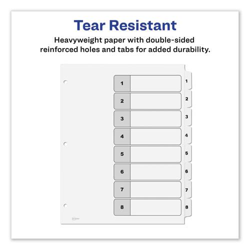 Customizable TOC Ready Index Black and White Dividers, 8-Tab, Letter. Picture 4