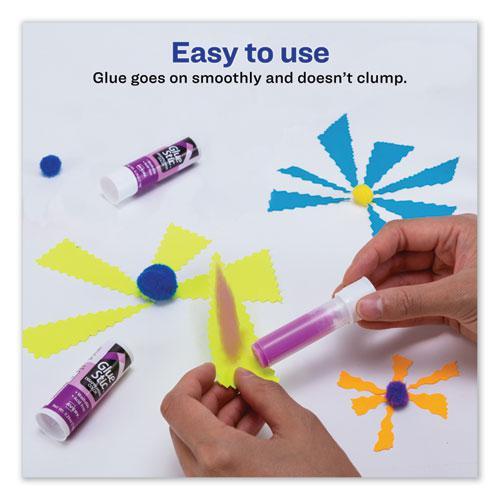 Permanent Glue Stic Value Pack, 0.26 oz, Applies Purple, Dries Clear, 6/Pack. Picture 8