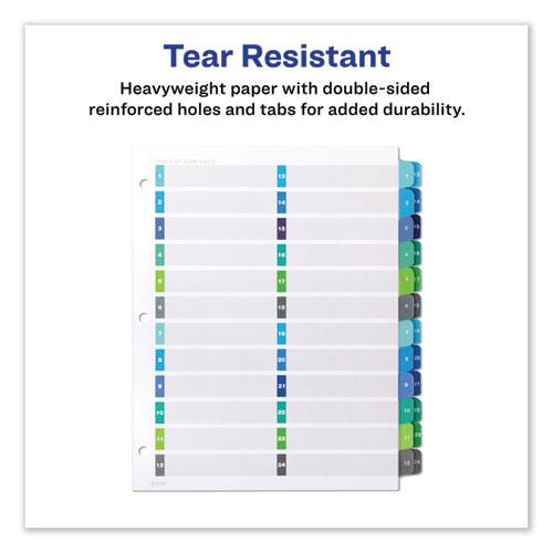 Customizable TOC Ready Index Double Column Multicolor Dividers, 24-Tab, Letter. Picture 5