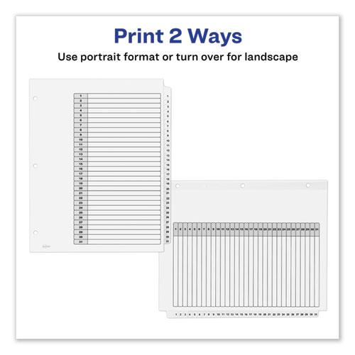 Customizable TOC Ready Index Black and White Dividers, 31-Tab, Letter. Picture 8