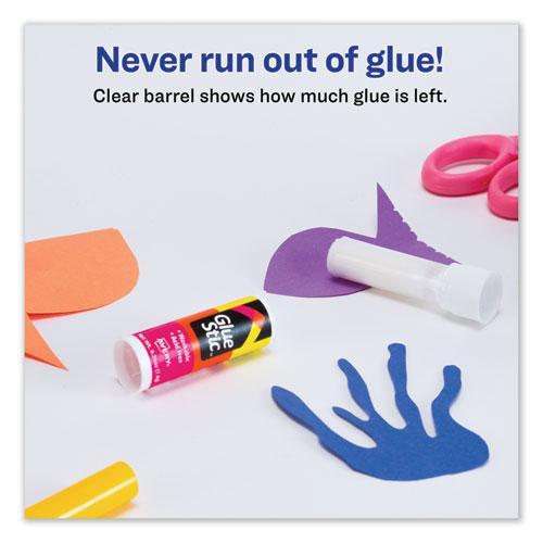 Permanent Glue Stic, 0.26 oz, Applies White, Dries Clear. Picture 7