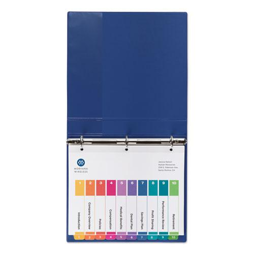 Customizable TOC Ready Index Multicolor Dividers, 10-Tab, Letter, 24 Sets. Picture 2
