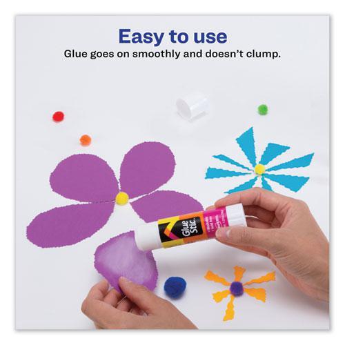 Permanent Glue Stic, 1.27 oz, Applies White, Dries Clear. Picture 5