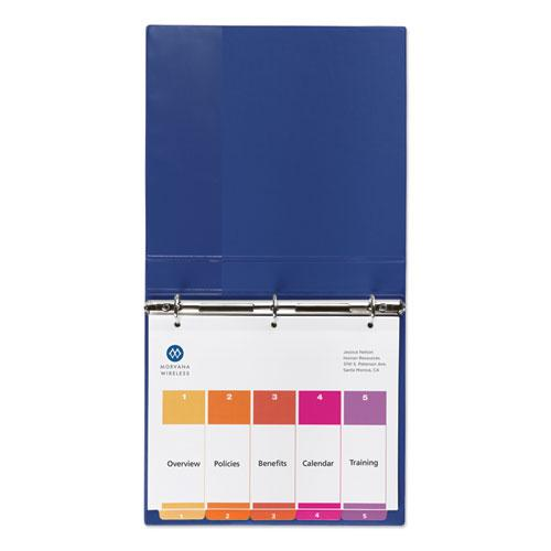 Customizable Table of Contents Ready Index Dividers with Multicolor Tabs, 5-Tab, 1 to 5, 11 x 8.5, White, 3 Sets. Picture 2