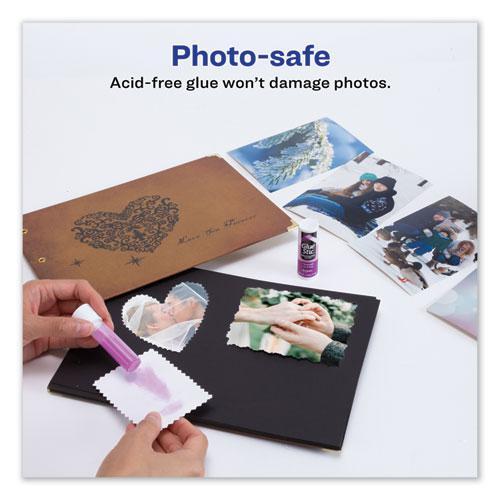 Permanent Glue Stic Value Pack, 0.26 oz, Applies Purple, Dries Clear, 6/Pack. Picture 2