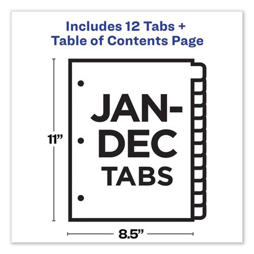Customizable TOC Ready Index Black and White Dividers, 12-Tab, Letter. Picture 8
