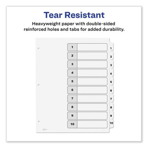 Customizable TOC Ready Index Black and White Dividers, 10-Tab, Letter. Picture 5
