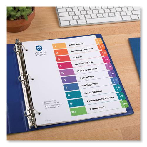 Customizable TOC Ready Index Multicolor Dividers, 10-Tab, Letter, 24 Sets. Picture 8