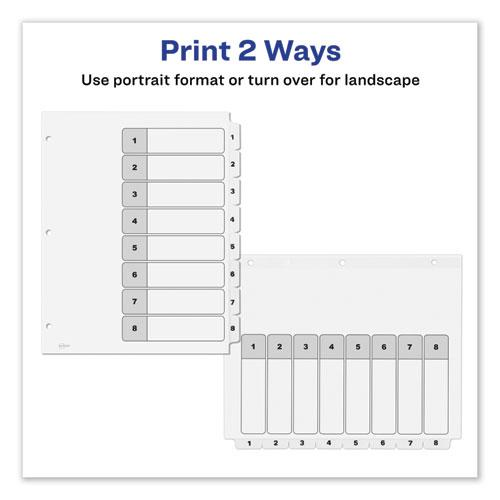 Customizable TOC Ready Index Black and White Dividers, 8-Tab, Letter. Picture 6