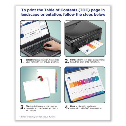 Customizable Table of Contents Ready Index Dividers with Multicolor Tabs, 31-Tab, 1 to 31, 11 x 8.5, White, 1 Set. Picture 3