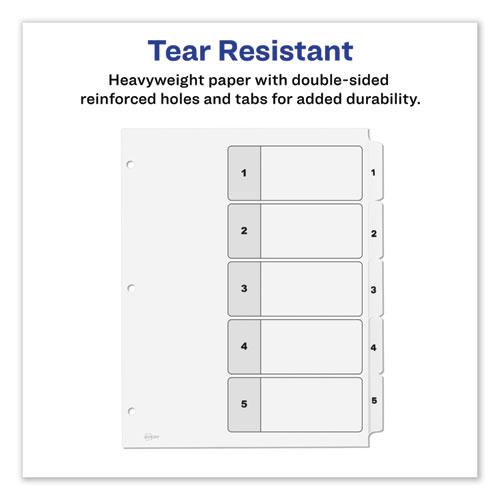 Customizable TOC Ready Index Black and White Dividers, 5-Tab, Letter. Picture 5
