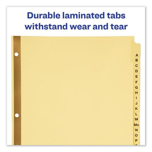 Preprinted Laminated Tab Dividers w/Gold Reinforced Binding Edge, 25-Tab, Letter. Picture 4