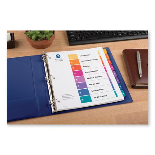 Customizable TOC Ready Index Multicolor Dividers, 8-Tab, Letter. Picture 7