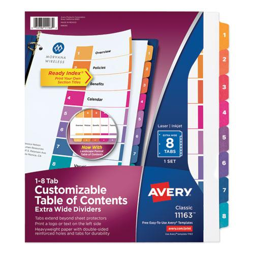 Customizable TOC Ready Index Multicolor Dividers, 8-Tab, Letter. Picture 1