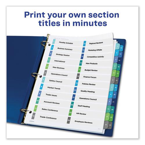 Customizable TOC Ready Index Double Column Multicolor Dividers, 24-Tab, Letter. Picture 2