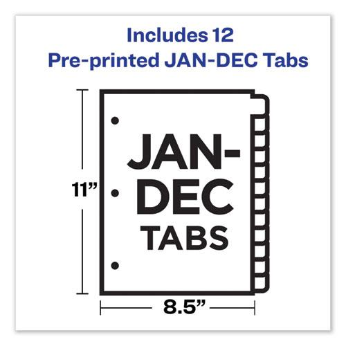 Preprinted Laminated Tab Dividers w/Gold Reinforced Binding Edge, 12-Tab, Letter. Picture 7