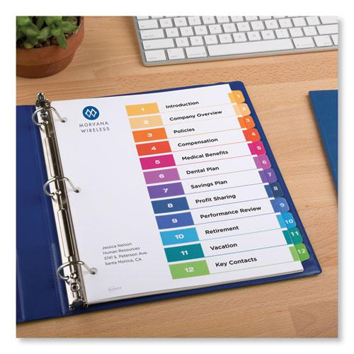Customizable TOC Ready Index Multicolor Dividers, 12-Tab, Letter. Picture 3