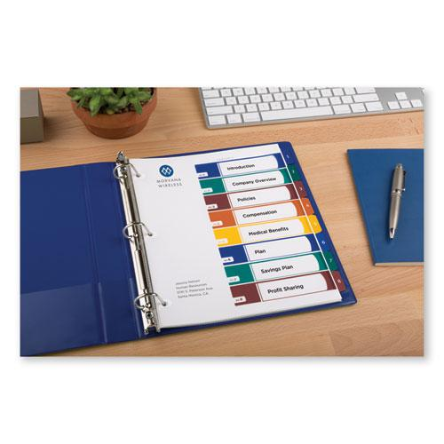 Ready Index Customizable Table of Contents, Asst Dividers, 8-Tab, Ltr, 6 Sets. Picture 6