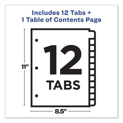 Customizable TOC Ready Index Multicolor Dividers, 12-Tab, Letter. Picture 8