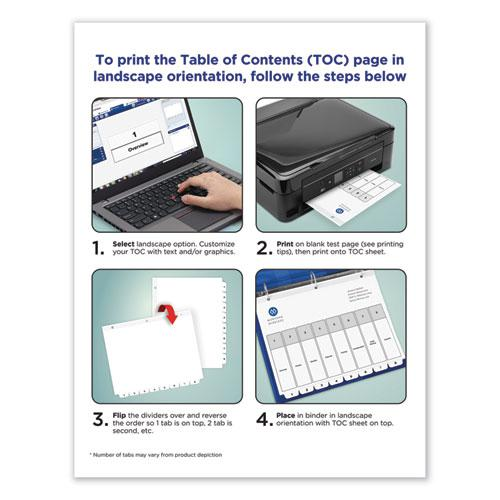 Customizable TOC Ready Index Black and White Dividers, 15-Tab, Letter. Picture 4